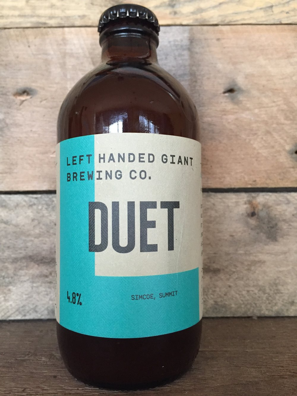 test bottle of Duet.