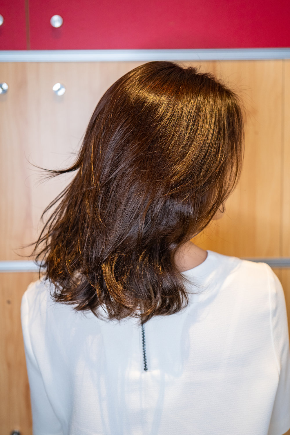 Loose waves created with Korean Designer Perm technique by Matthew Kim at Du Sol Beauty Novena
