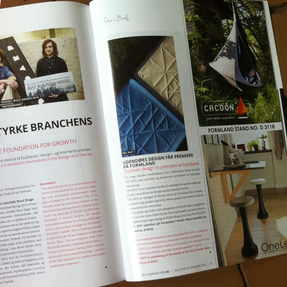 Seats by TEC OUT in Branchemagasin NU 01/2016