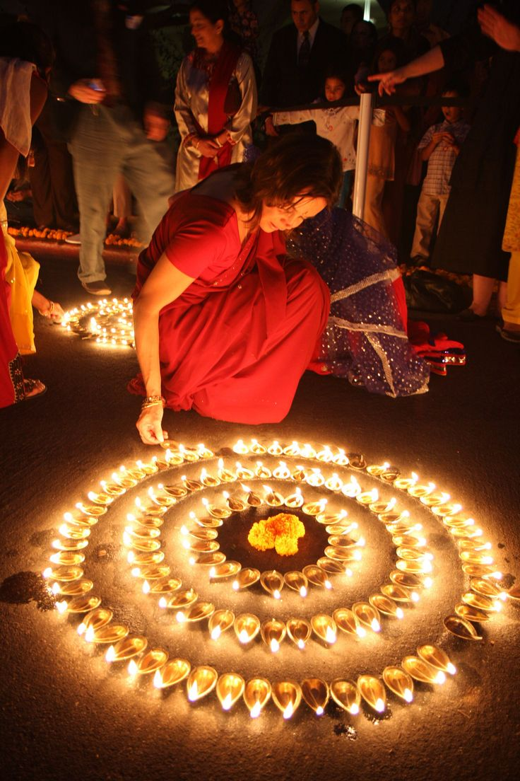 Lighting diyas.  Image from Pinterest.