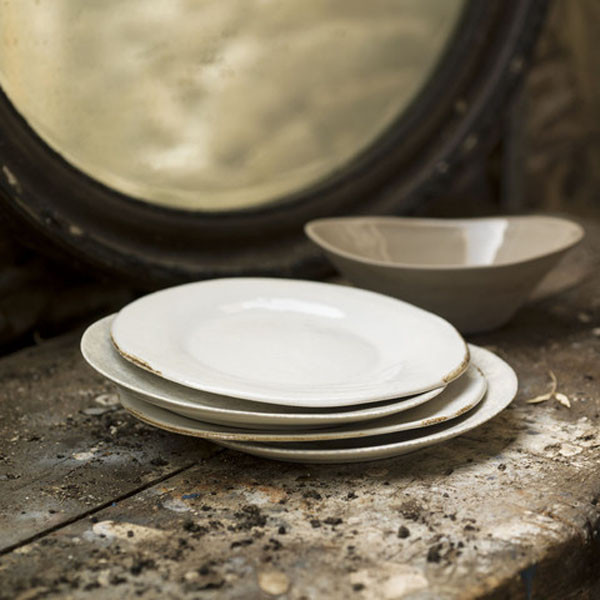 Aged ceramic plates, from £14 - Decorum