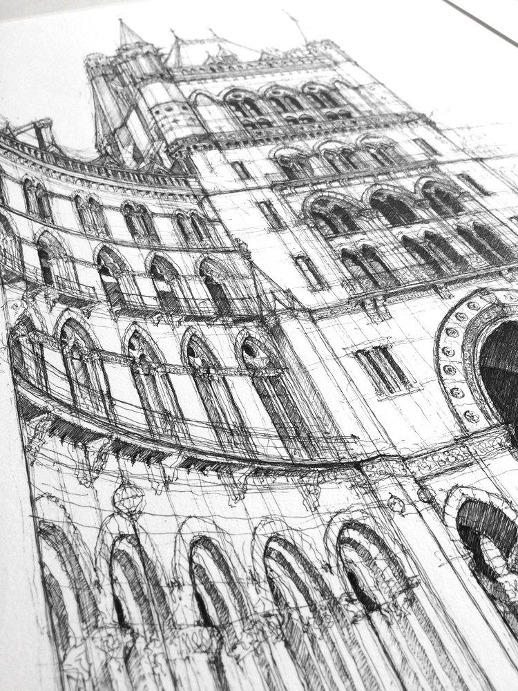 'St Pancras' detail