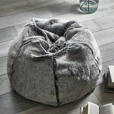 Supersoft Faux Fur Beanbag in Husky, £325 -  Cox & Cox