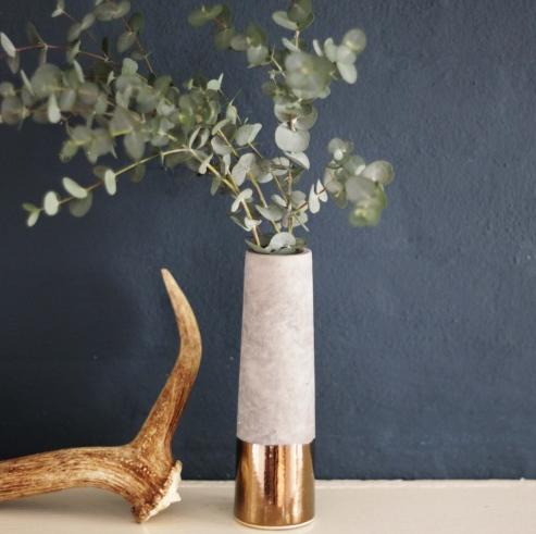 Concrete Tube Vase, £8 -  Loop The Loop
