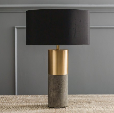 Concrete and brass lamp, £115 -  Graham & Green