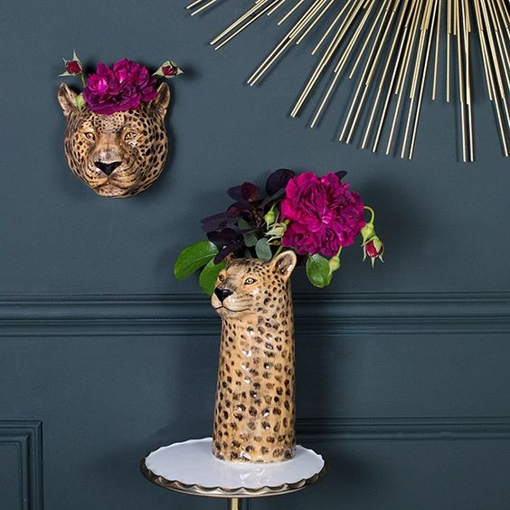Leopard vases, from £29.95 - Audenza
