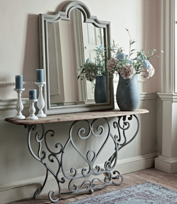 Ironwork console table, £1200.
