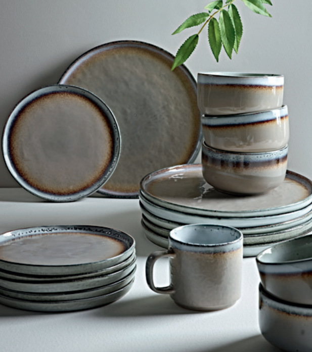 Maja stone dinnerware, from £35.