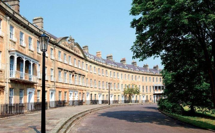 Somerset Place's stunning Georgian terrace.