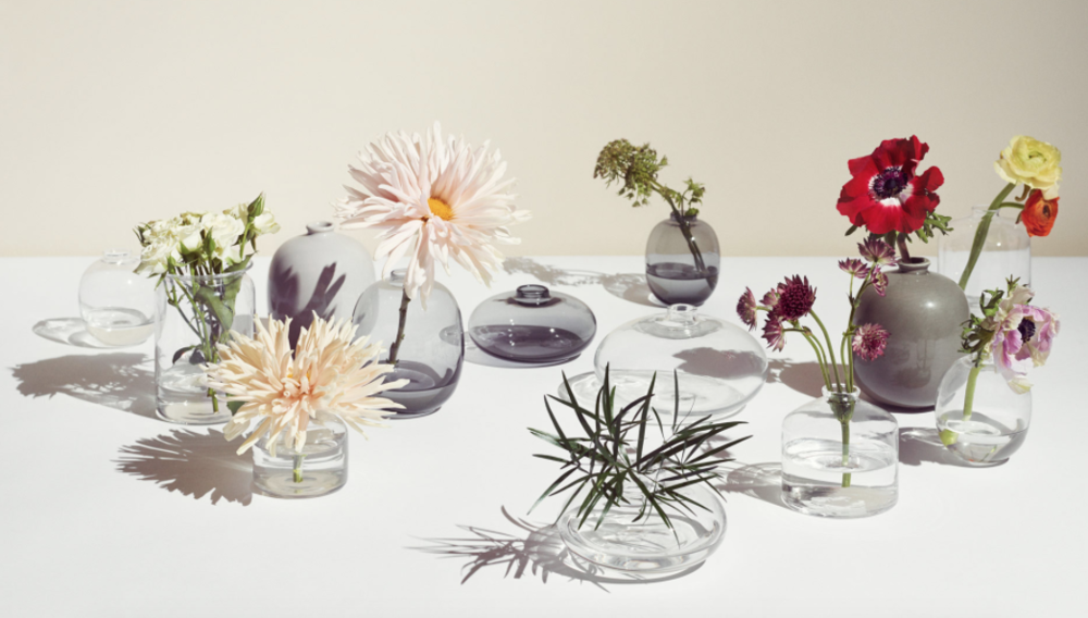 Arket's glassware range features simple, mouth-blown pieces.