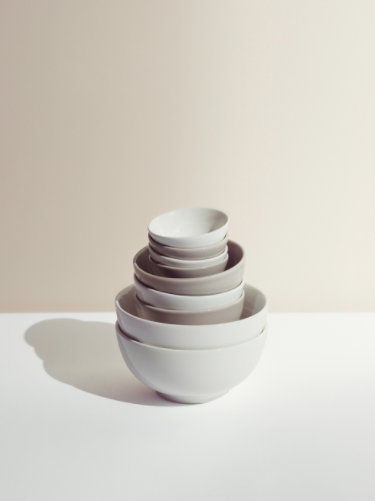 Porcelain bowls in five sizes, from £5.