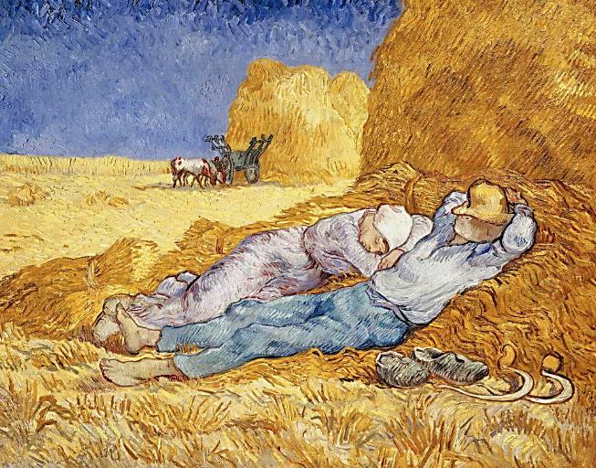 Midday Rest (after Millet) by Vincent Van Gogh