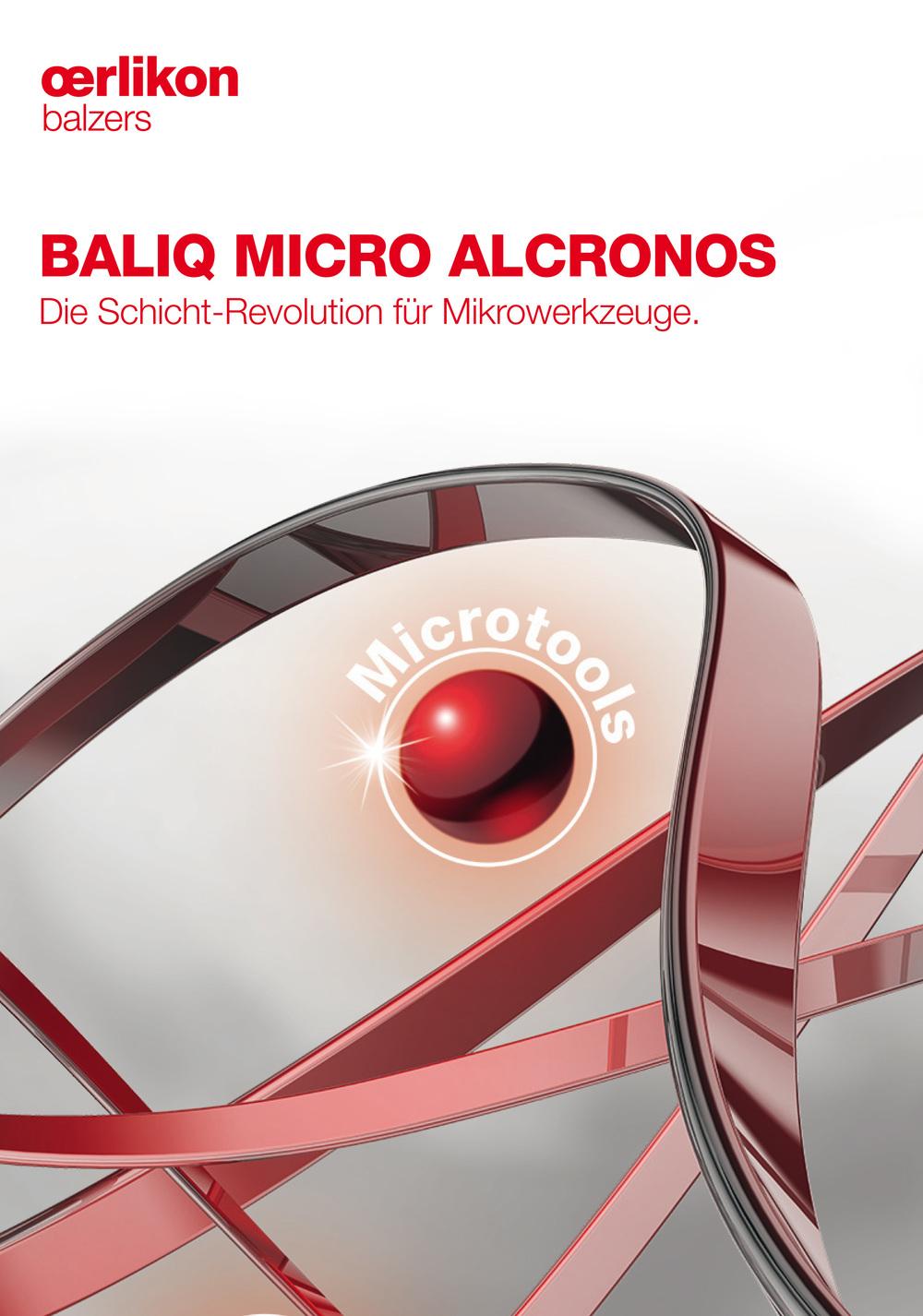 Broschüre Oerlikon Balzers - BALIQ Micro Alcronos 1