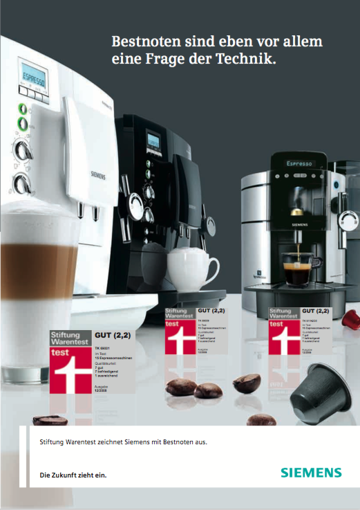 Siemens Sales-Folder 1 - Kaffee-Vollautomat