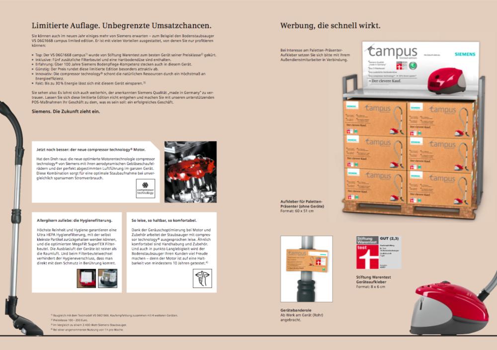 Siemens Sales-Folder 4 - Staubsauger