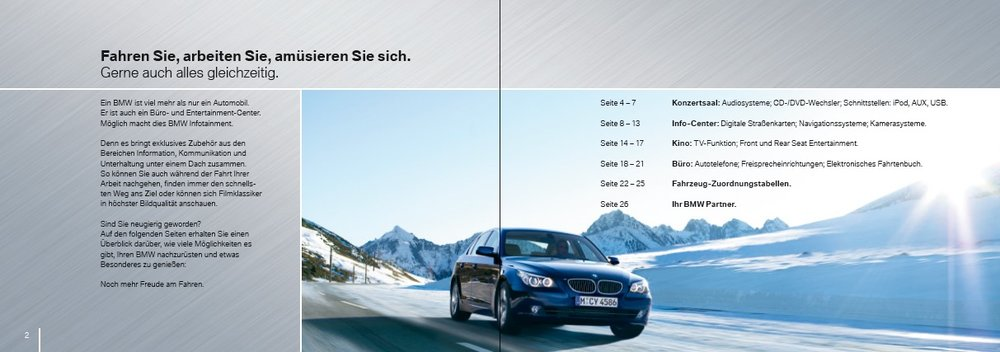 Infotainment Flyer BMW 2