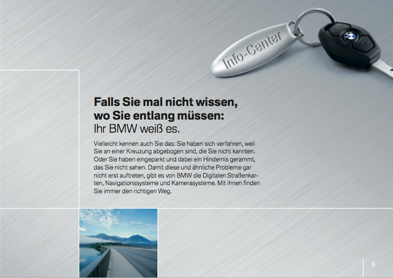 Infotainment Flyer BMW 4