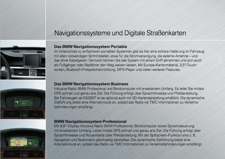 Infotainment Flyer BMW 5