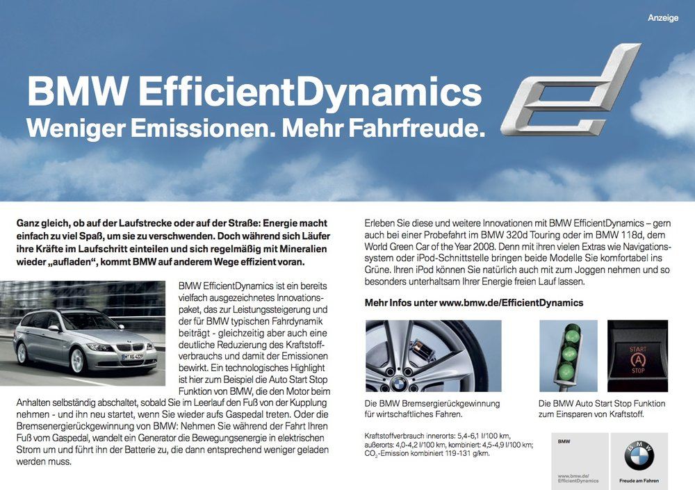 BMW Advertorial Efficient Dynamics