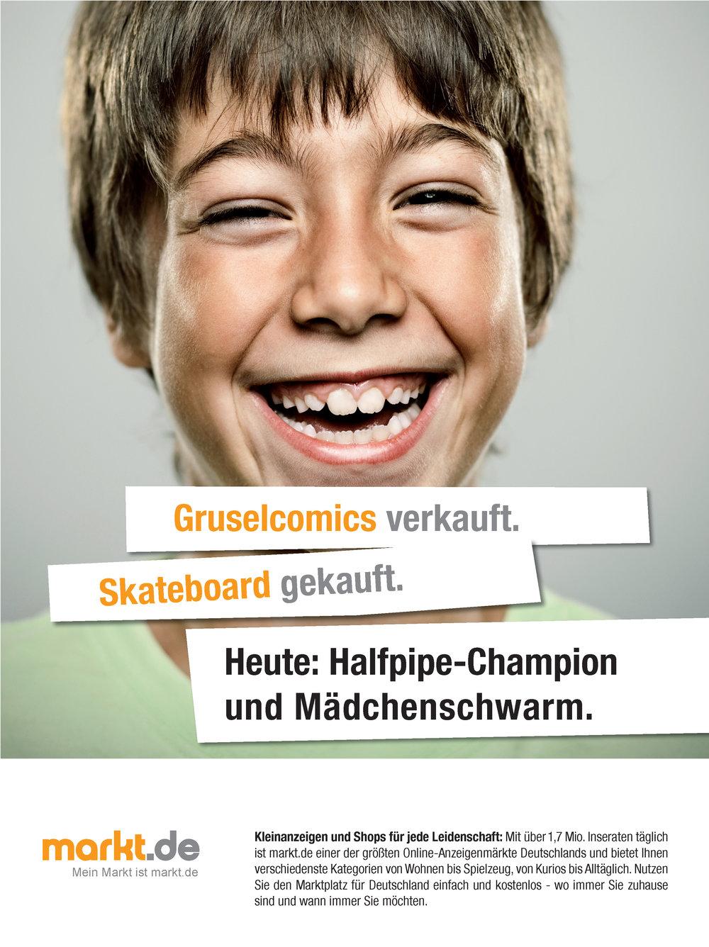 Anzeige markt.de - Halfpipe Champion und Mädchenschwarm