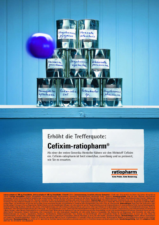 ratiopharm Anzeige Cefixim-ratiopharm