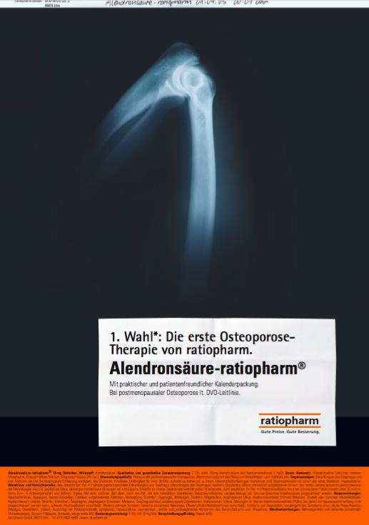 ratiopharm Anzeige Alendronsäure-ratiopharm