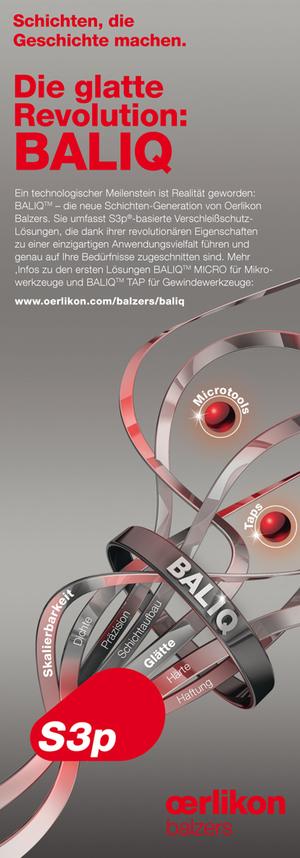 Anzeige Oerlikon Balzers - BALIQ