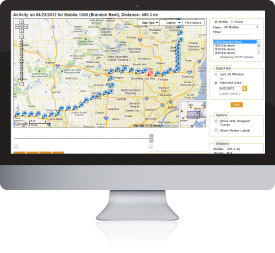 GPS Telematics installation for fleet tracking.