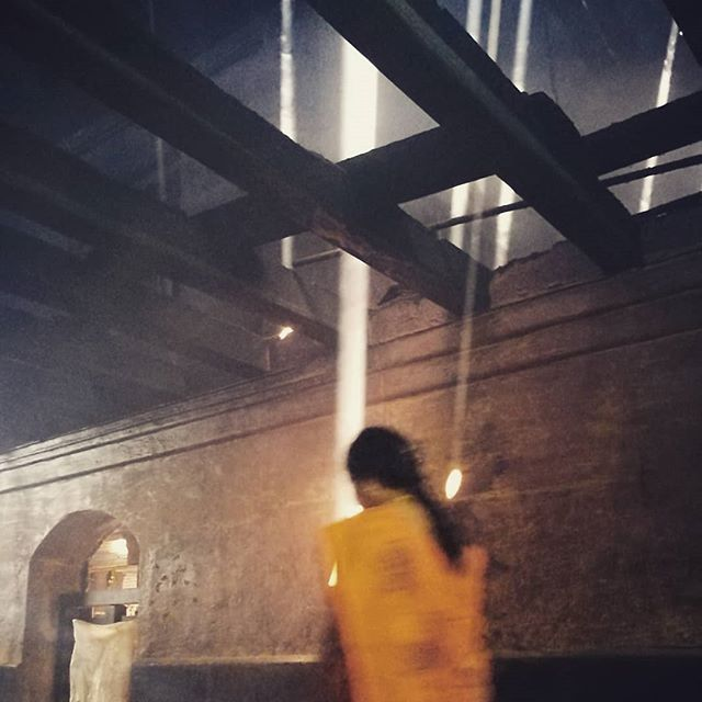 fire & light. air & smoke.  alchemy.  #athomeintheworld #homewithin #yogalife #india #darshan 👁️