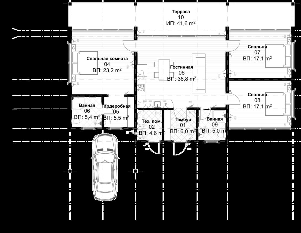 Верналь - Площадь первого этажа: 120,8 кв.м.Общая площадь дома: 162.4 кв.мЦена под ключ:4 950 000 р