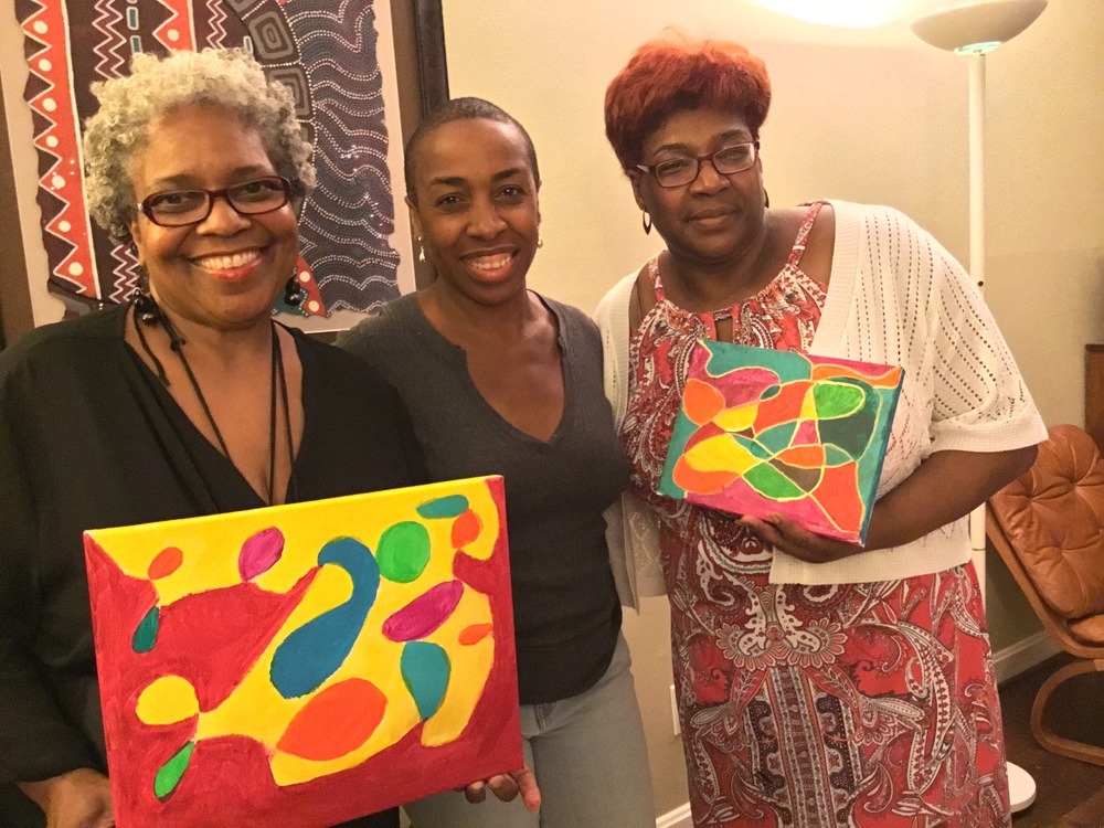 July Painting Party Hosted by Shaun Martin (center)