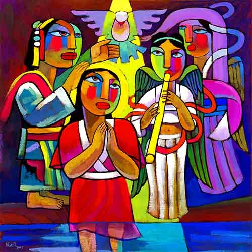 Baptism of Jesus,He Qi