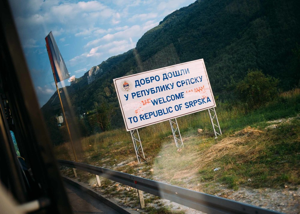 Crossing the border into the Republic of Srpska, or the Serb Republic, where Andrej and his mother have a home in a rural area. Although Andrej enjoys the tranquility of the area, he said that being there sometimes made him feel uneasy.