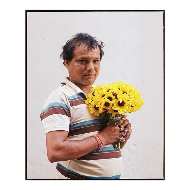 Uttam, 46. A flower seller at the Mullick Ghat Flower Market in Kolkata, India, the biggest flower market in Asia. . Going to resist sharing too much of this series on here for now but couldn't help myself with this one. . #makeportraits #portraitphotography #filmisnotdead