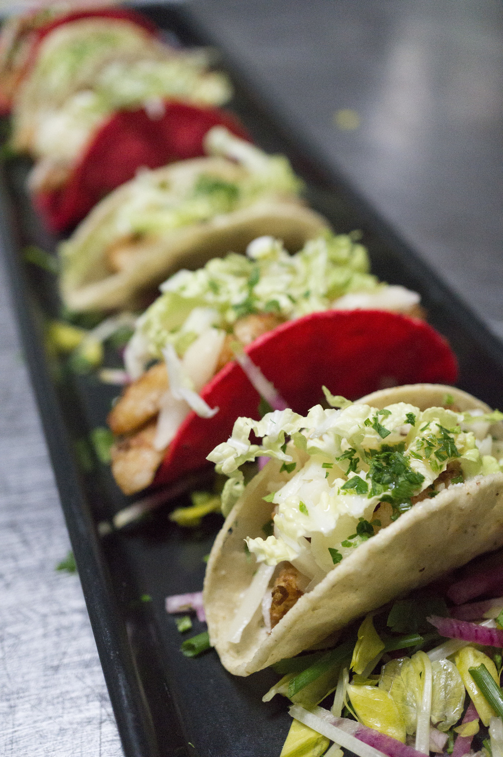 20151201 tasting Corvina Fish Tacos with Cilantro, Cotija Cheese & Pickled Onions 9788.jpg