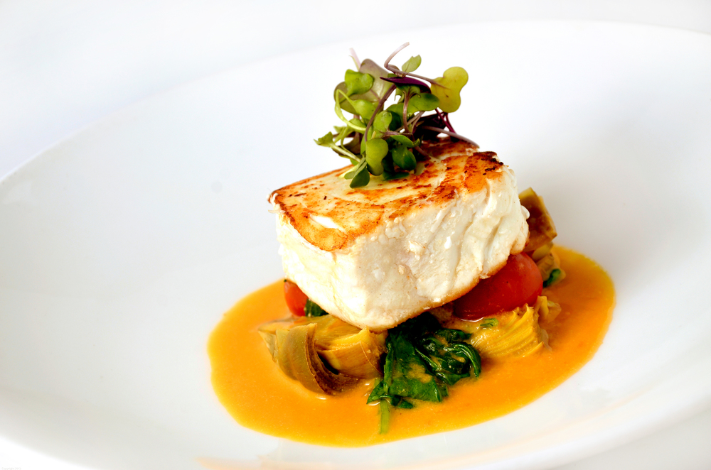 Alaskan Halibut A La Plancha with Roasted Tomato, Artichokes and Chardonnay copy.jpg