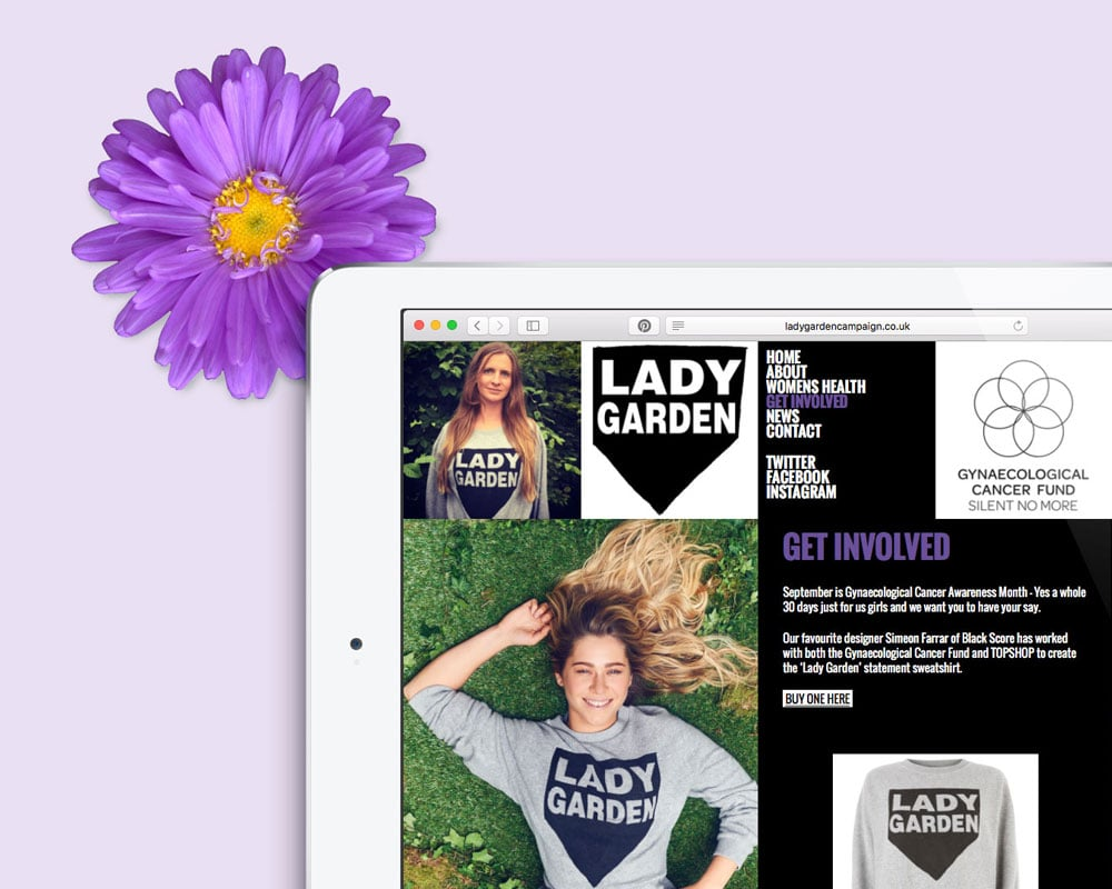 Lady Garden Campaign website design
