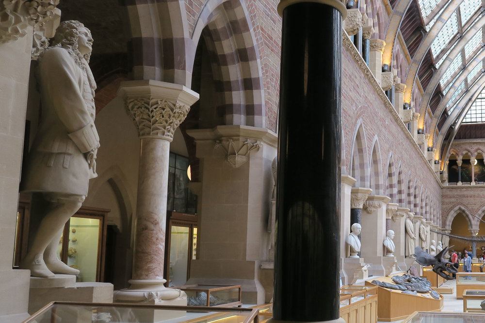 Colourful stone pillars, legends of science statues and amazing anthropological finds inside