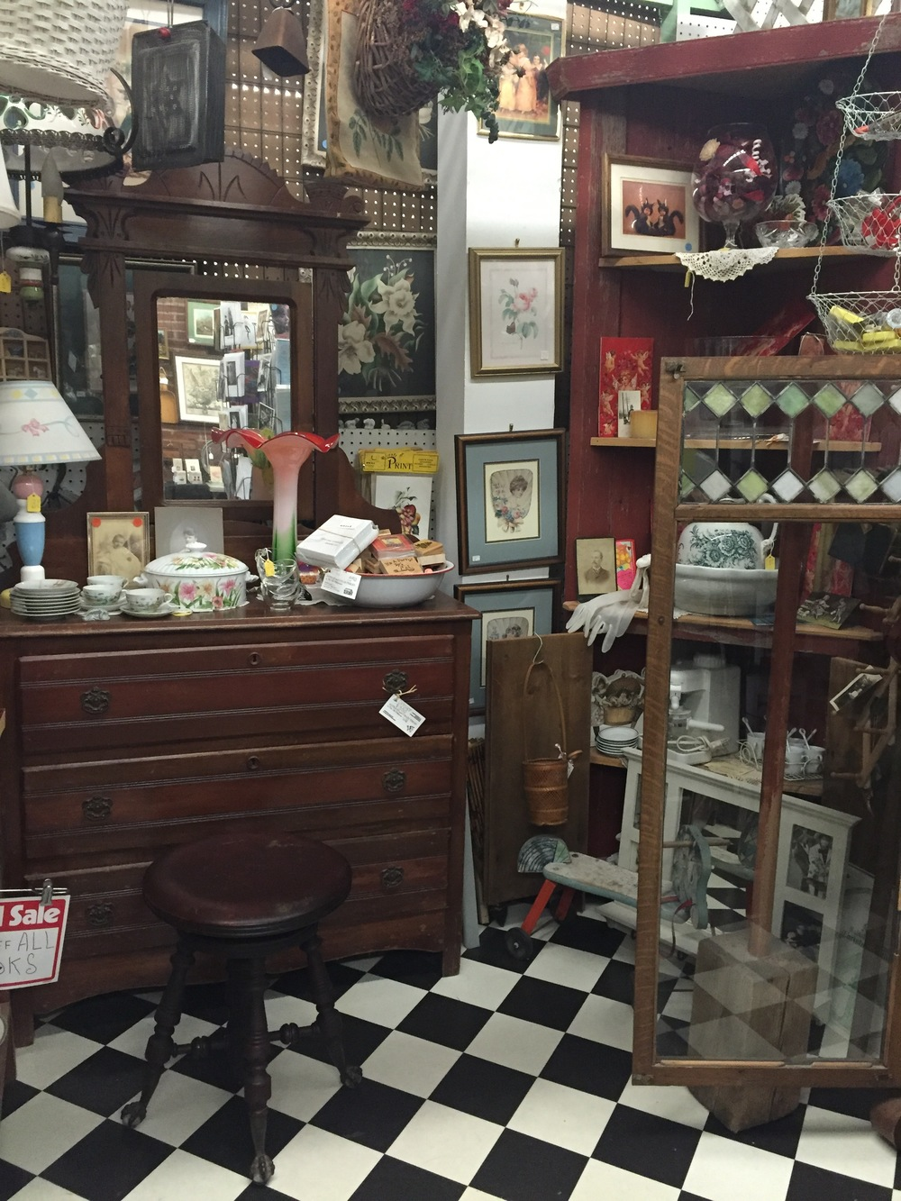 Antiques and Collectibles in the Old Milkhouse