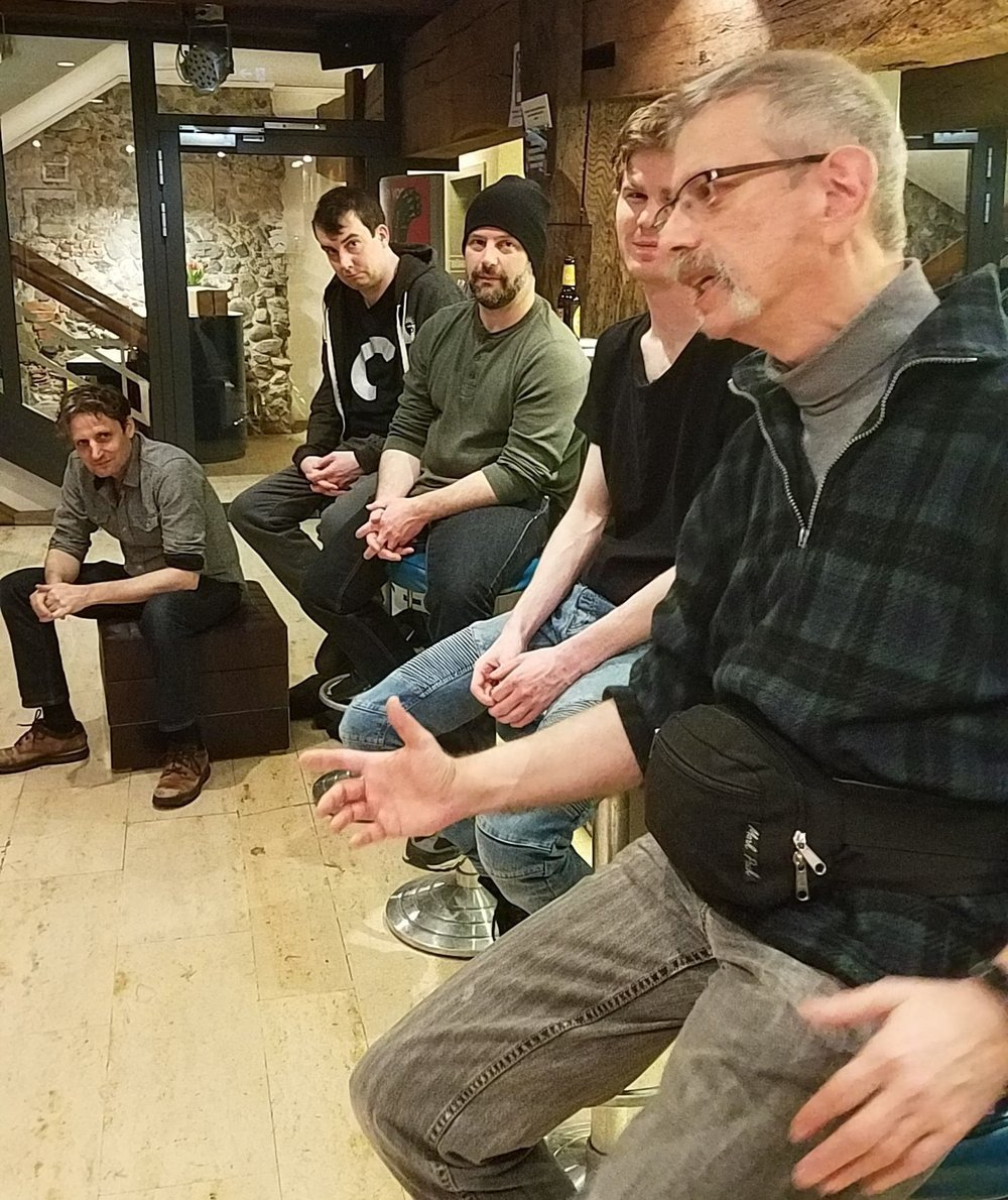 left to right:  ean sheehy, Ian Gould, David perez-ribada,, Nicholas-Tyler Corbin, Michael Gnat, Katrin Hilbe,  Photo: Katrin Hilbe