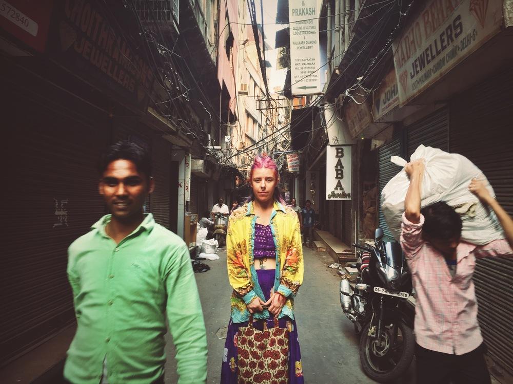 Lleah Smith Captured in Chandi Chowk, Old Delhi, India,2015 (c) Zuarav