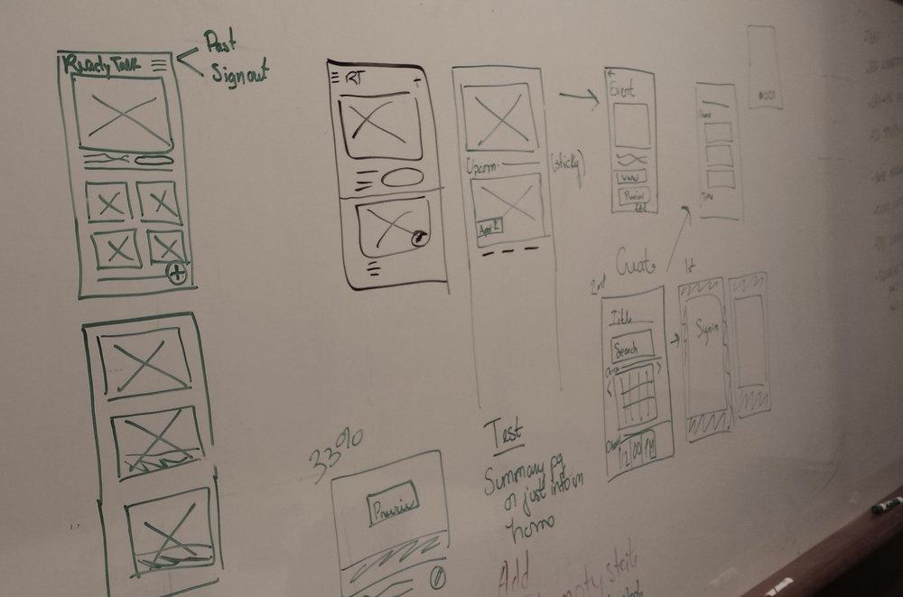 Whiteboarding for mobile design