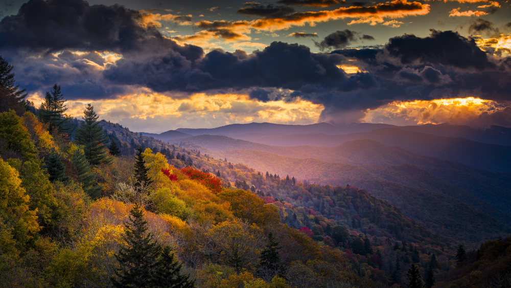The Great Smoky Mountains at Dawn