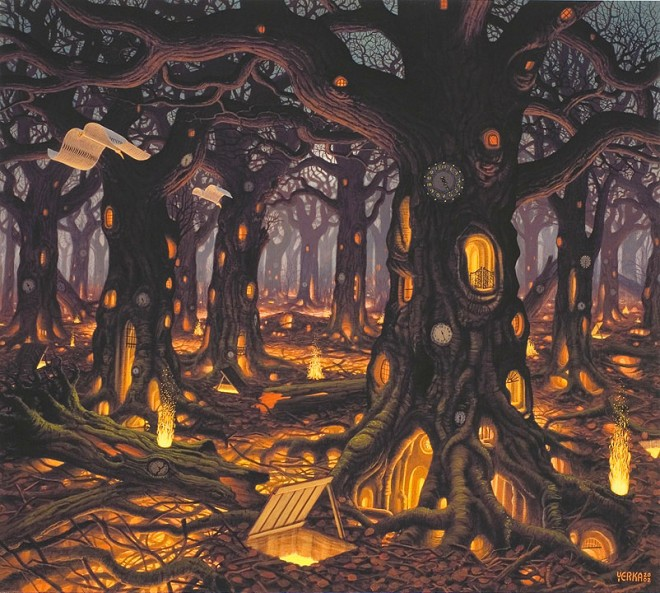 Dream World Painting by Jacek Yerka