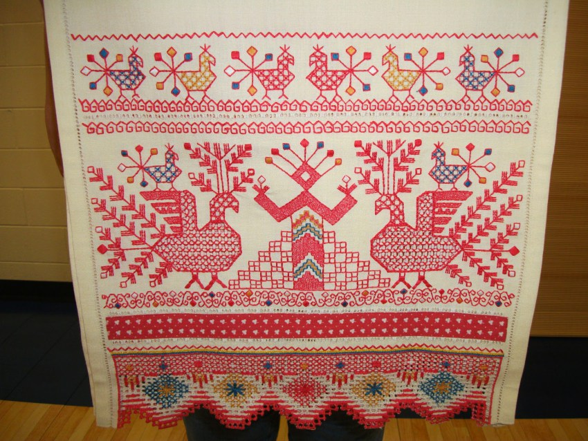 Ceremonial Embroidery of Rohanitsa, Image Source from Mary B. Kelly