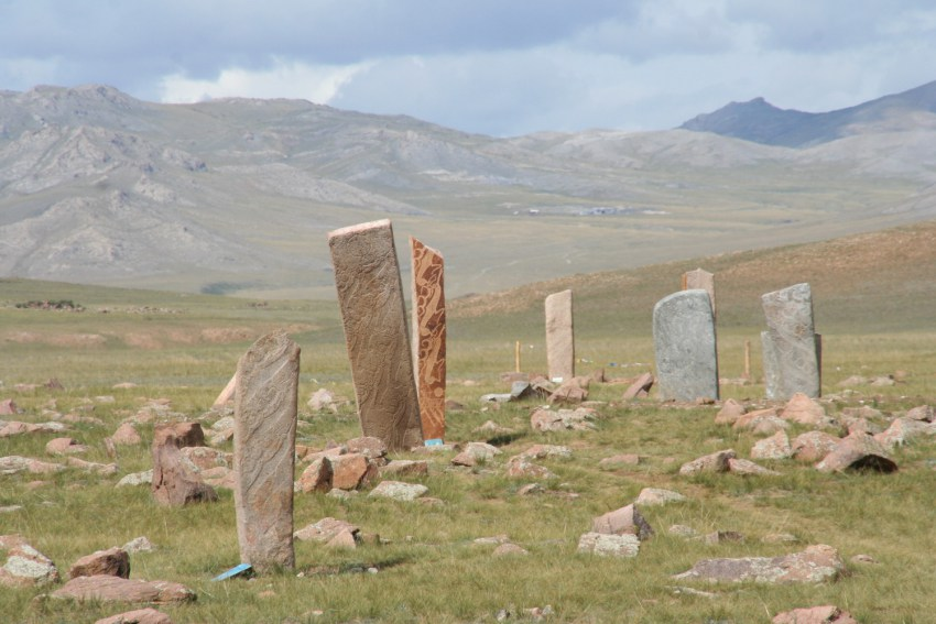 Reindeer Stones  or Stele. Image source Wikipedia.