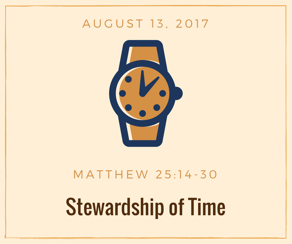 Stewardship of Time - Please click on image for slides.