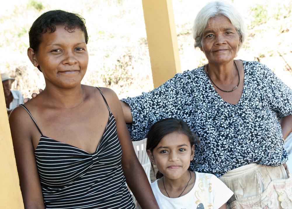 Three generations under one roof. Photo by Ann Schertz
