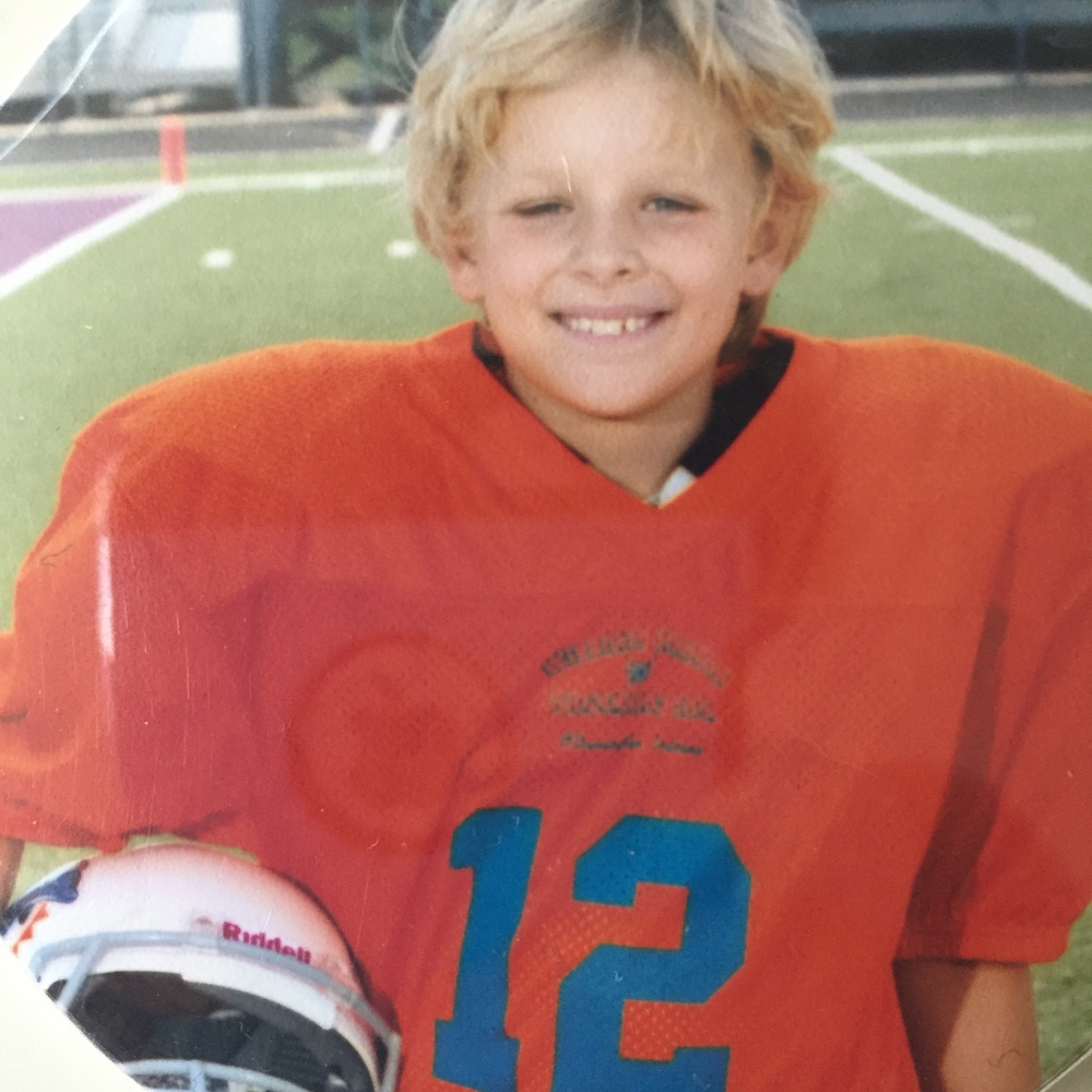 10 year old Sam on the field