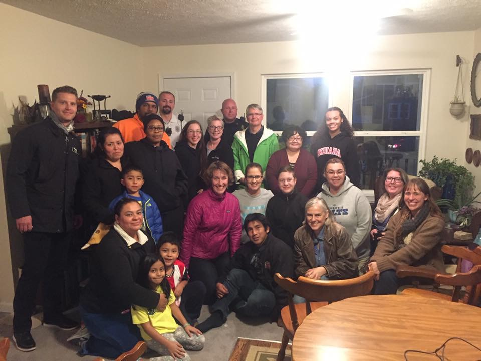 A community meeting where our homeowners and staff were joined by Mayor John Hamilton and members of the Bloomington Police just before a candlelight vigil